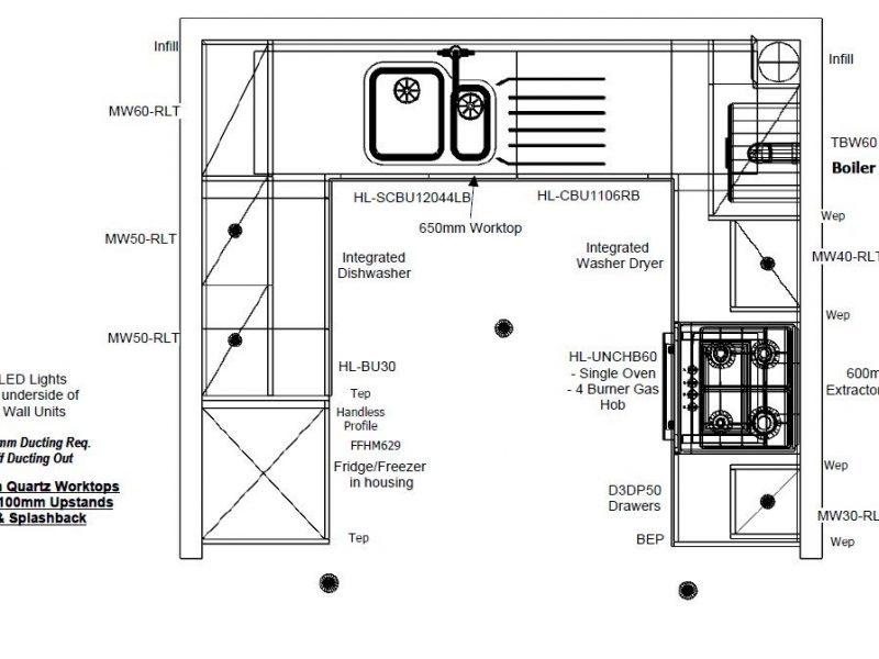 CALA kitchen design floor plan